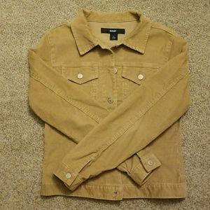 Gap tan corduroy jacket EUC